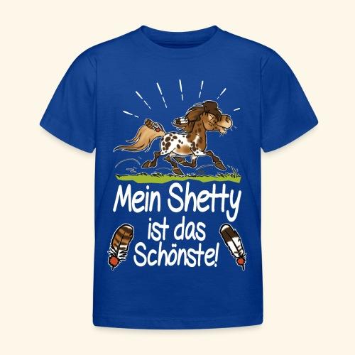 Mein Shetty das Schönste (Text weiss) - T-shirt Enfant