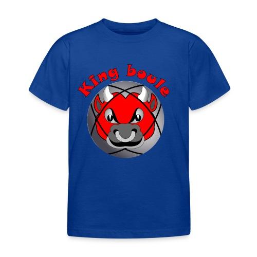 t shirt King boule roi pétanque tireur pointeur - T-shirt Enfant