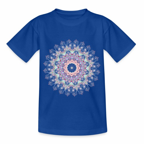 Hvid mandala - Børne-T-shirt