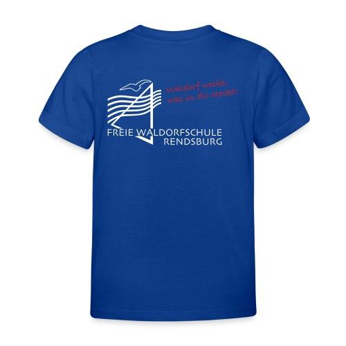 Logo weiss rot - Kinder T-Shirt