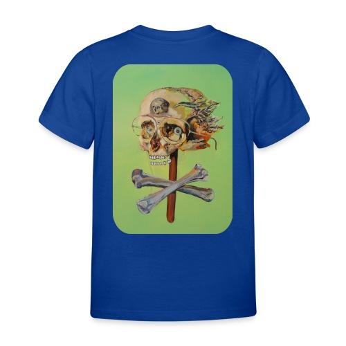 oil painting of skull and bones - Kinderen T-shirt