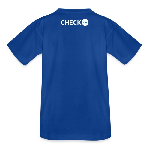 checkde Logo white png - Kinder T-Shirt