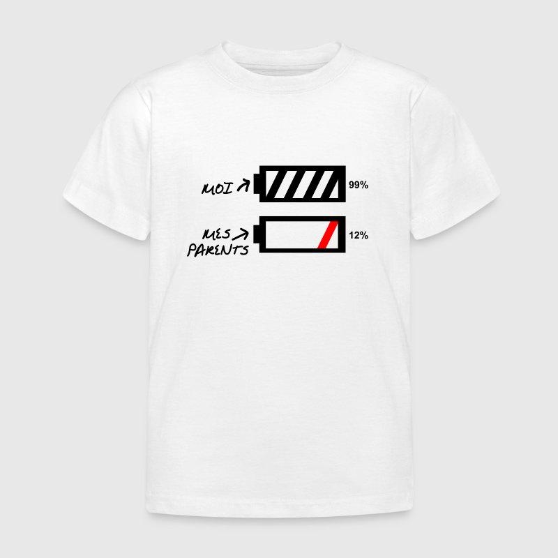 Bébé,humour,plus de batterie - T-shirt Enfant