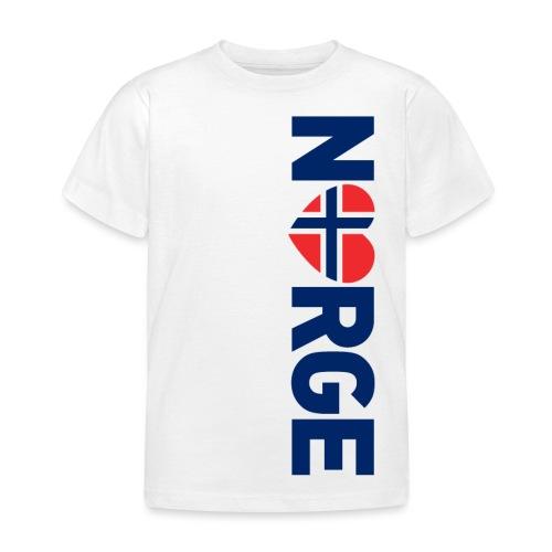 Elsker Norge - fra Det norske plagg - T-skjorte for barn
