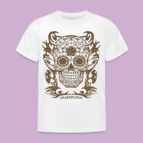 SKULL FLOWERS LEO - Kinder T-Shirt