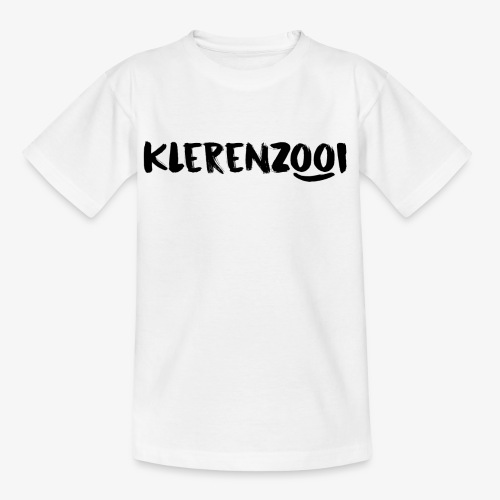 Witte kindercollectie Klerenzooi logo - Kinderen T-shirt