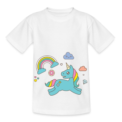colored unicorn - Kids' T-Shirt