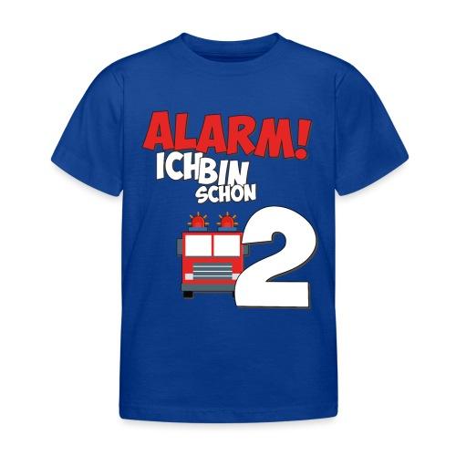 Feuerwehrauto 2. Geburtstag Jungen 2 Jahre - Kinder T-Shirt