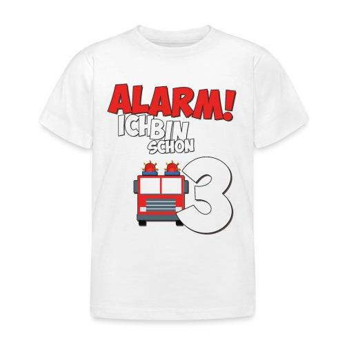 Feuerwehrauto 3. Geburtstag Jungen 3 Jahre - Kinder T-Shirt