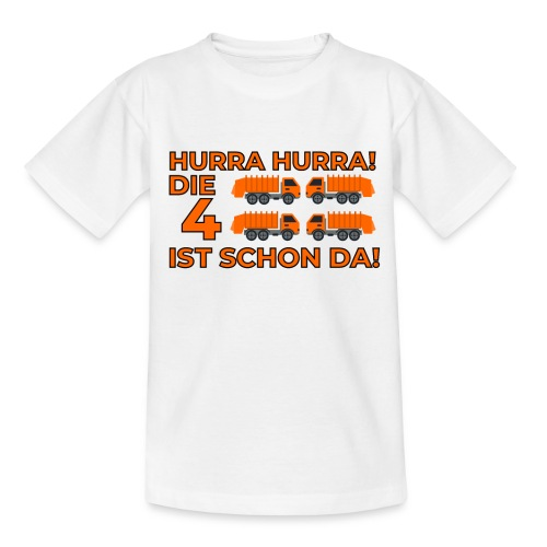 Czwarte urodziny śmieciarka - Koszulka dziecięca