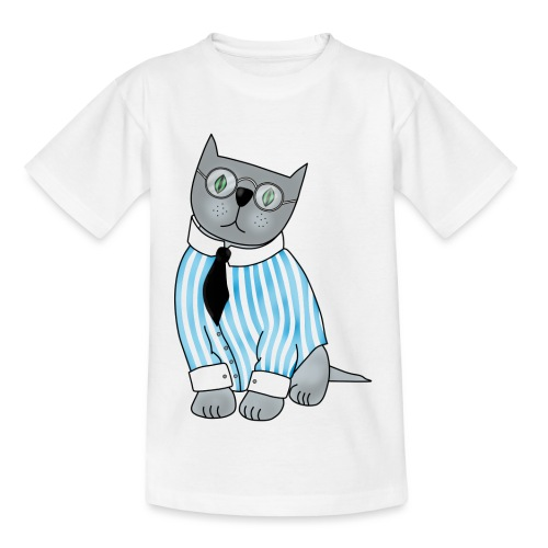 Cat with glasses - Kids' T-Shirt