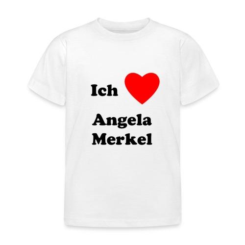 Ich liebe Angela Merkel - Kinder T-Shirt