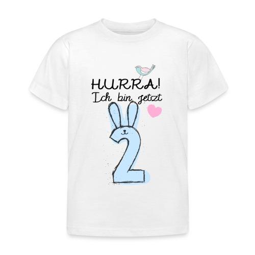 Hurra ich bin jetzt 2 / Geschenk zum 2. Geburtstag - Kinder T-Shirt