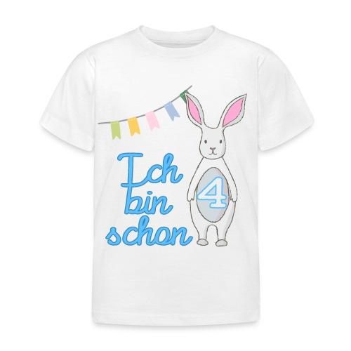 Ich bin schon 4 / Geschenk zum 4. Geburtstag. - Kinder T-Shirt