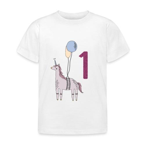 1 Jahr Einhorn / Geschenkidee zum 1. Geburtstag - Kinder T-Shirt