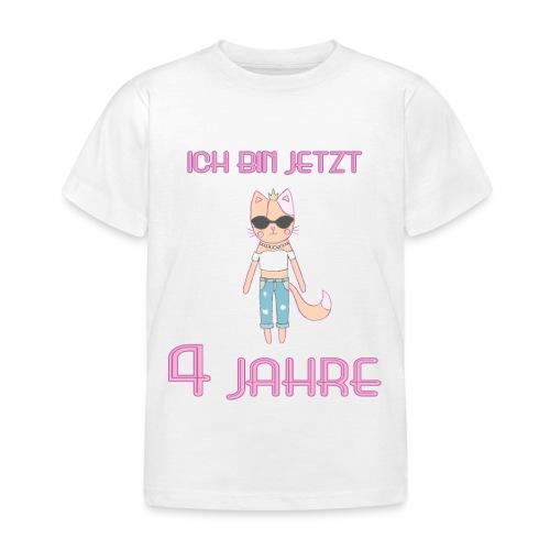 Ich bin jetzt 4 Jahre / Geschenk zum 4. Geburtstag - Kinder T-Shirt