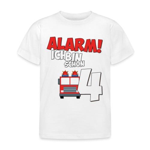 Feuerwehrauto 4. Geburtstag Jungen 4 Jahre - Kinder T-Shirt