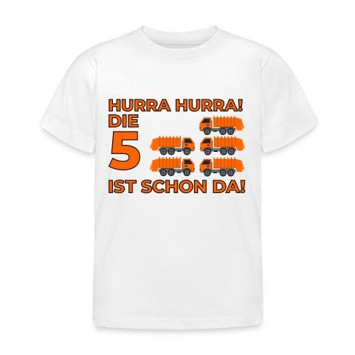 Piąte urodziny prezent dla chłopca śmieciarka - Koszulka dziecięca