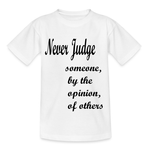 Never Judge - Kids' T-Shirt