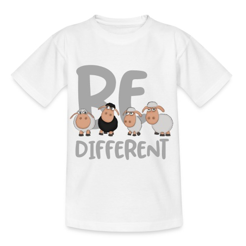 Be different Schafe: Einzigartiges schwarzes Schaf - Kinder T-Shirt