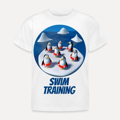 Pinguine beim Schwimmunterricht - Kids' T-Shirt