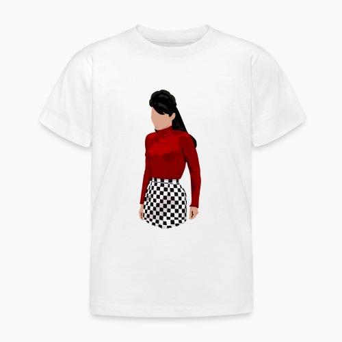 Lupetto rossa e imperdibile gonna a scacchi - Maglietta per bambini