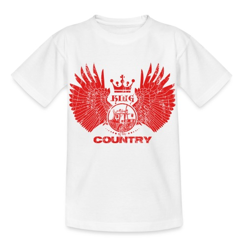 IH KING of the COUNTRY (Red design) - Kinderen T-shirt