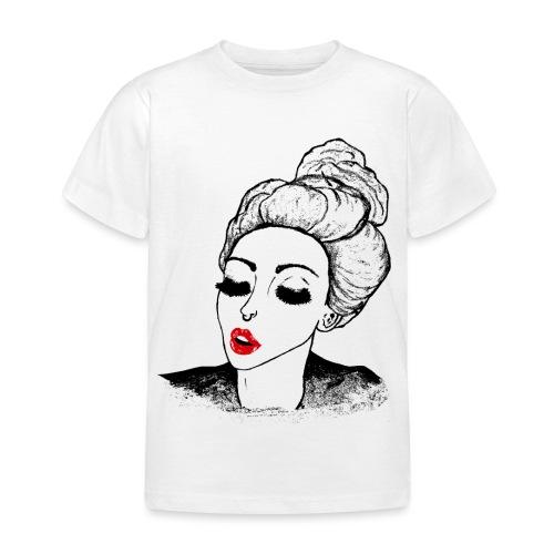 Vintage Retro Girl Kiss message - Kids' T-Shirt