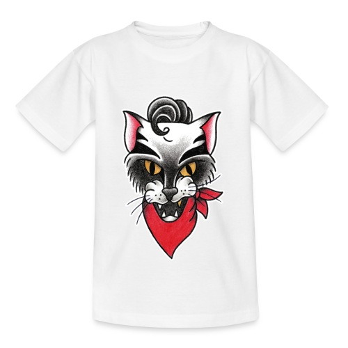 Rockabillycat - Maglietta per bambini