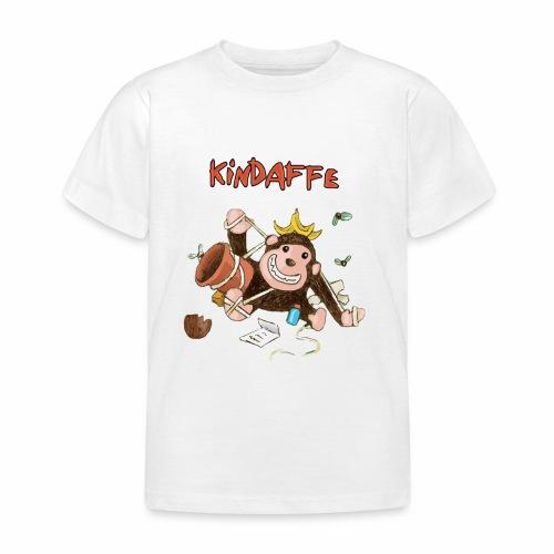 Kindaffe bleibt kleben - Kinder T-Shirt