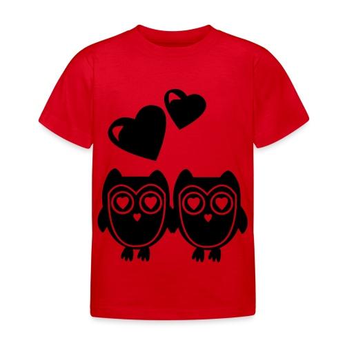 verliebte Eulen - Kinder T-Shirt