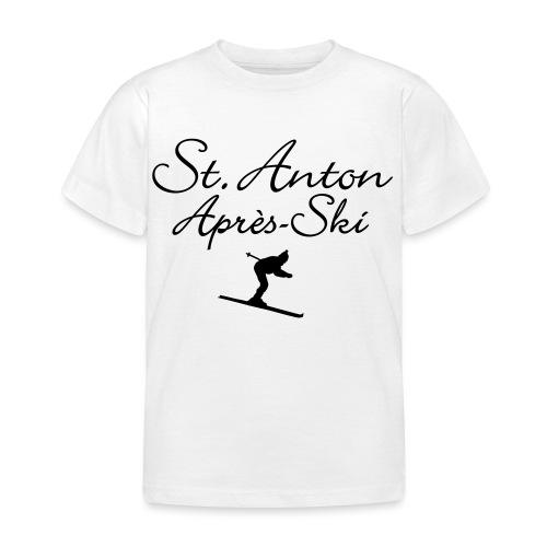 St. Anton Après-Ski Skifahrer - Kinder T-Shirt