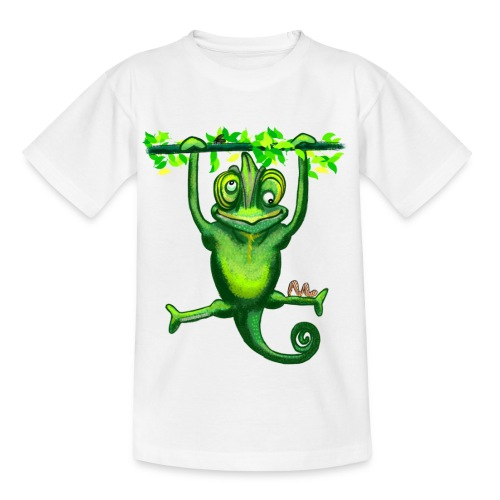 Hunting green chameleon print / design - Kids' T-Shirt