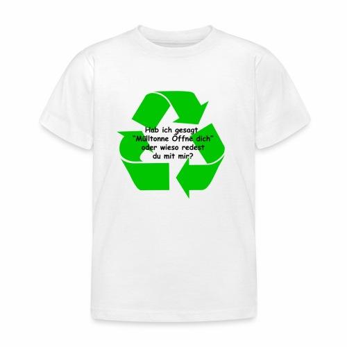 Mülltonne Öffne dich - Kinder T-Shirt