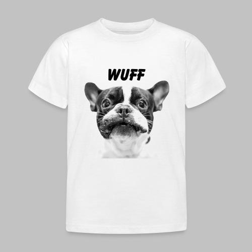 Wuff - Hundeblick - Hundemotiv Hundekopf - Kinder T-Shirt