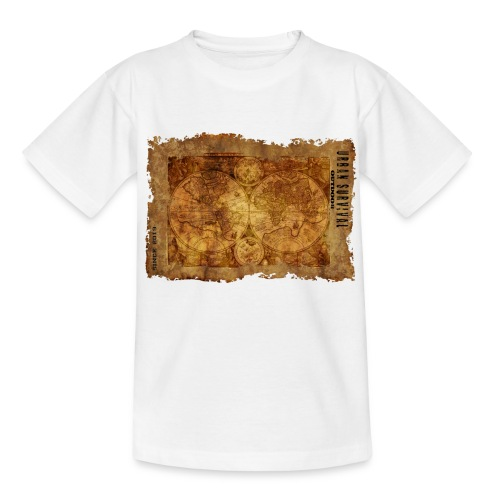 map of the world 2241469 1920 - Kinder T-Shirt