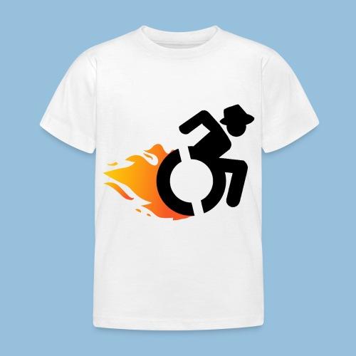 Roller met vlammen 016 - Kinderen T-shirt
