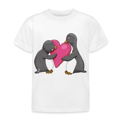 Pinguins geef me je hart - Kinderen T-shirt