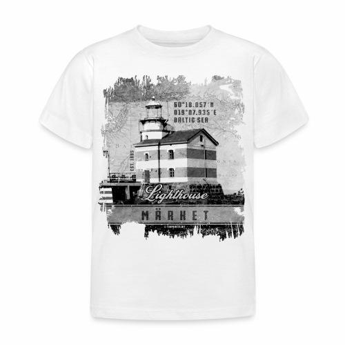 Märket majakkatuotteet, Finland Lighthouse, Harmaa - Lasten t-paita