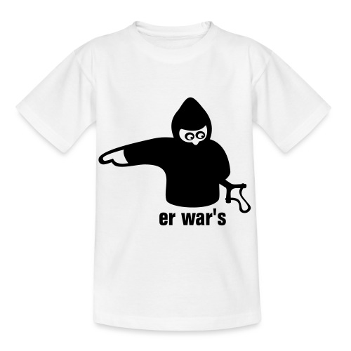 er war's - links - Kinder T-Shirt