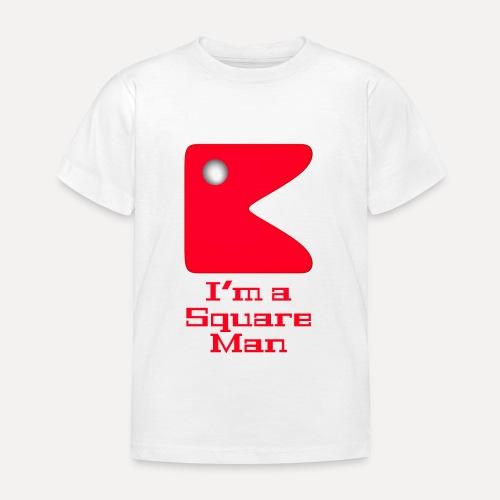 Square man red - Kids' T-Shirt