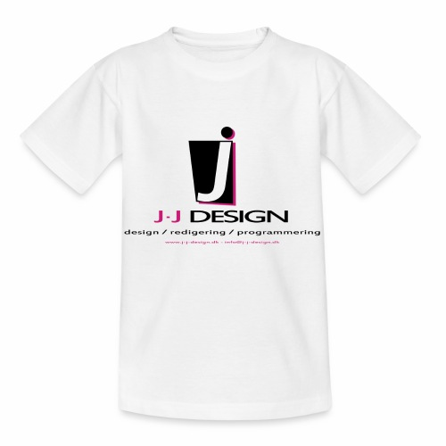 LOGO_J-J_DESIGN_FULL_for_ - Børne-T-shirt
