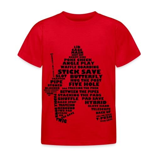 Language of Hockey (Goalie version, black print) - Kids' T-Shirt