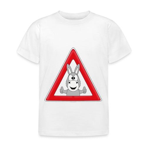 VORSICHT ESEL - TIER - TIERISCH - GESCHENKIDEE - Kinder T-Shirt