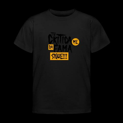 CRITICA - Camiseta niño