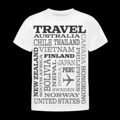 Travel Places Gray design - Lasten t-paita