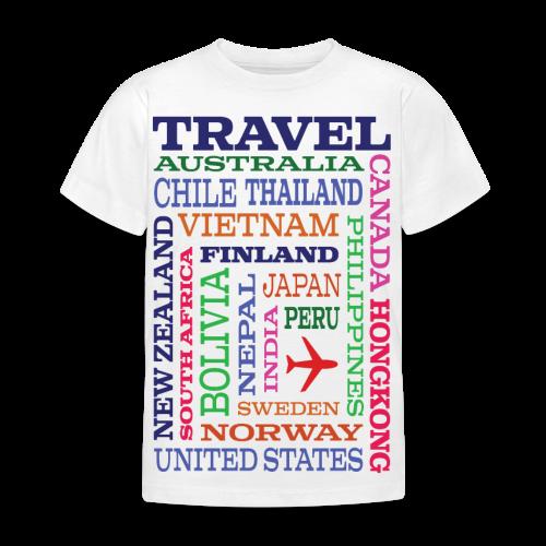 Travel Places design - Lasten t-paita
