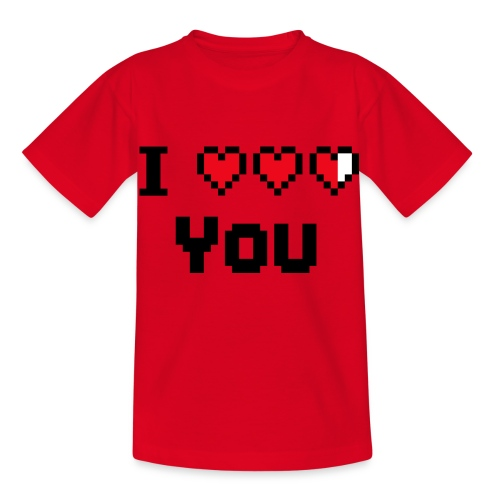 I pixelhearts you - Kinderen T-shirt