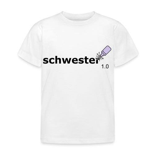 Schwester_1-0 - Kinder T-Shirt