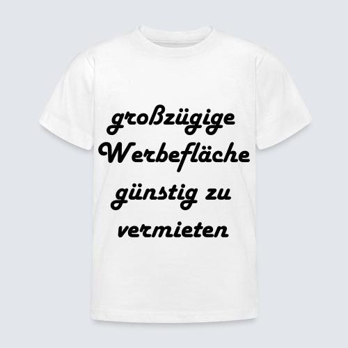 großzügige Werbefläche - Kinder T-Shirt